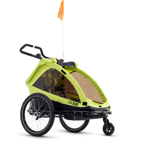 s'cool taXXi Elite Bike Trailer for Two lemon